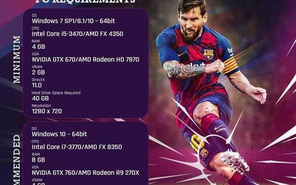 《实况足球2020》PC配置需求公布 最低仅需GTX 670