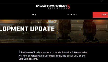 《机甲战士5:雇佣兵》宣布跳票 12月10日Epic独占发售