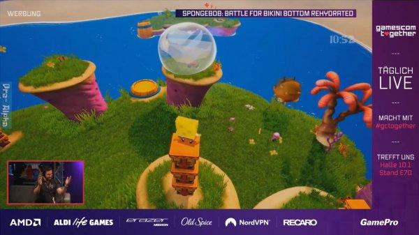 GC:《海绵宝宝》重制版实机演示 比奇堡的冒险之旅