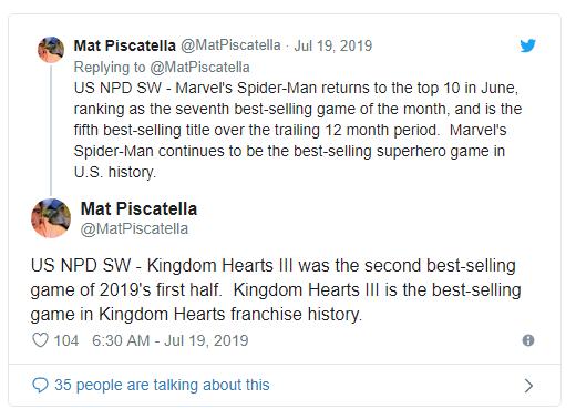 北美游戏销量:《王国之心3》为该系列史上最畅销