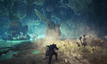 《怪物猎人:世界》冰原DLC 亚种酸斩龙实机画面