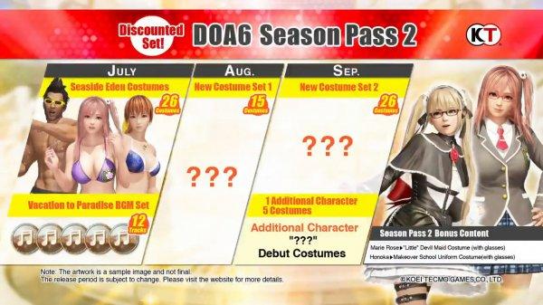 《死或生6》季票2公布 夏日泳装及全新角色登场