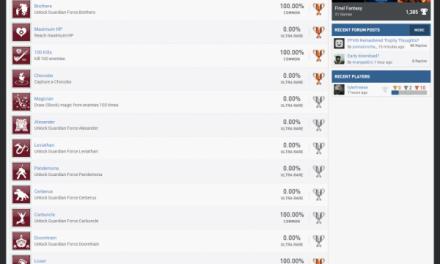 《FF8:重制版》主机板奖杯列表公布 与PC版基本一致
