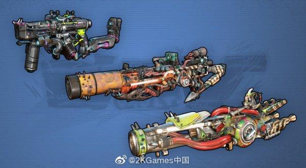 《无主之地3》海量武器图曝光 千奇百怪造型各异