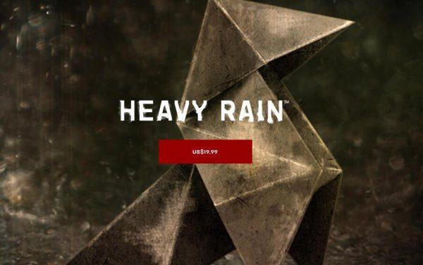 《暴雨》PC版正式发售 Epic商店国区疑似被锁