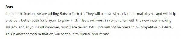 萌新福音 《堡垒之夜》新赛季将增加AI玩家