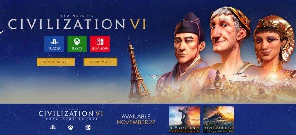 2K宣布《文明6》登陆PS4和Xbox平台 11月22日正式发售