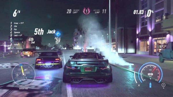 《极品飞车:热度》公布13分钟演示 夜晚模式飙车