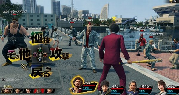 名越稔洋谈《如龙7》玩法 玩家可选择自动战斗