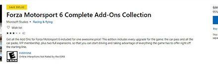 微软宣布《极限竞速6》和DLC将在9.15后停止售卖