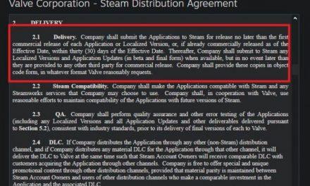 V社更新Steam分销协议 禁止未发售游戏下架
