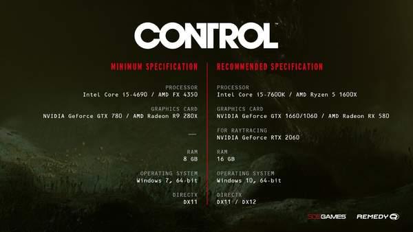 《控制》Xbox版容量公布 PC版配置需求下调