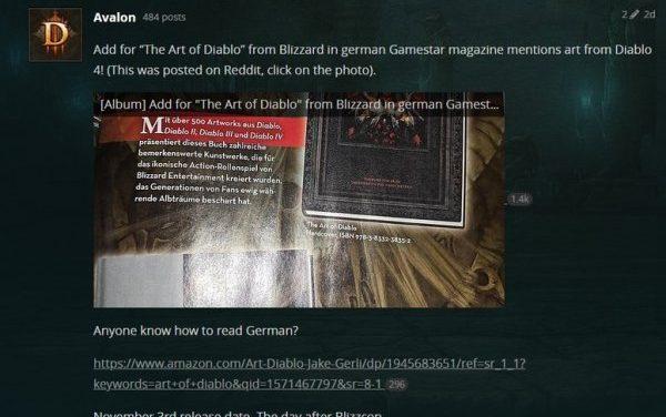 《暗黑破坏神4》即将公布?德国杂志广告泄露玄机