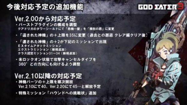 《噬神者3》直播活动 第二弹免费更新内容公布