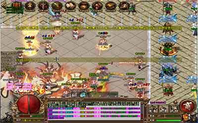 变态传奇里boss战场中的简单攻略!